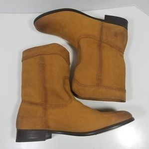 Frye Cara Short Cognac Boots Riding Boots